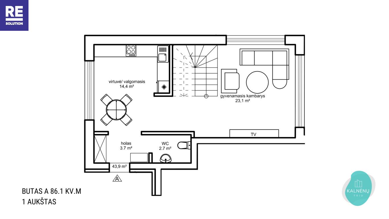 Parduodamas namas Albanų g., Kalnėnuose, Vilniuje, 86 m² ploto nuotrauka nr. 14