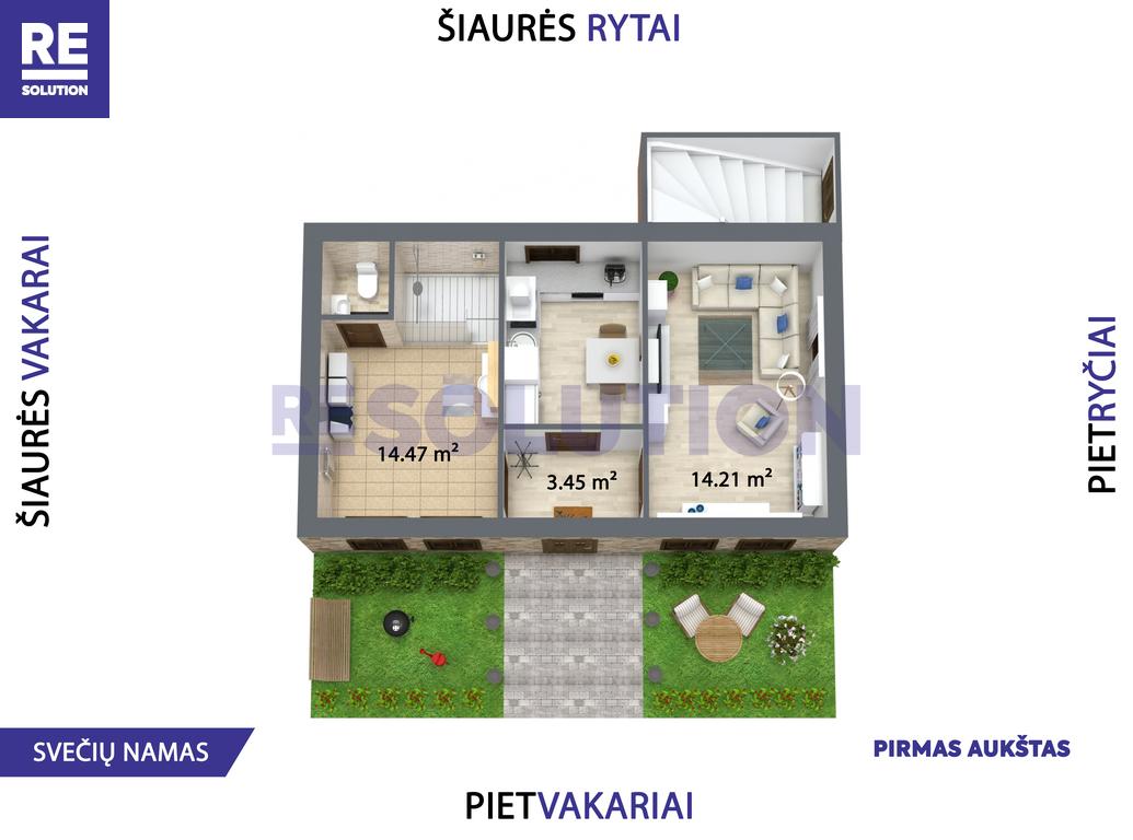Parduodamas namas Gulbių g., Žvėryne, Vilniuje, 262.6 kv.m ploto, 2 aukštai nuotrauka nr. 17