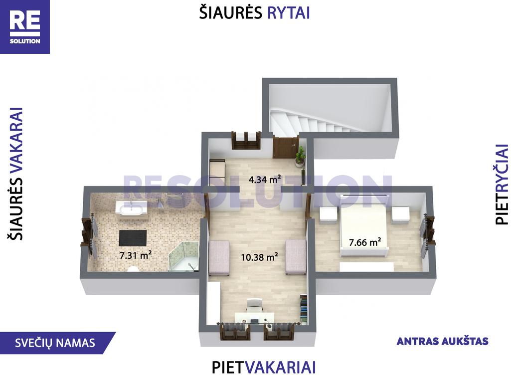 Parduodamas namas Gulbių g., Žvėryne, Vilniuje, 262.6 kv.m ploto, 2 aukštai nuotrauka nr. 18