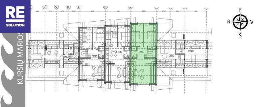 Parduodamas butas Preilos g., Neringos m., Neringos sav., 56.36 m2 ploto, 3 kambariai nuotrauka nr. 10