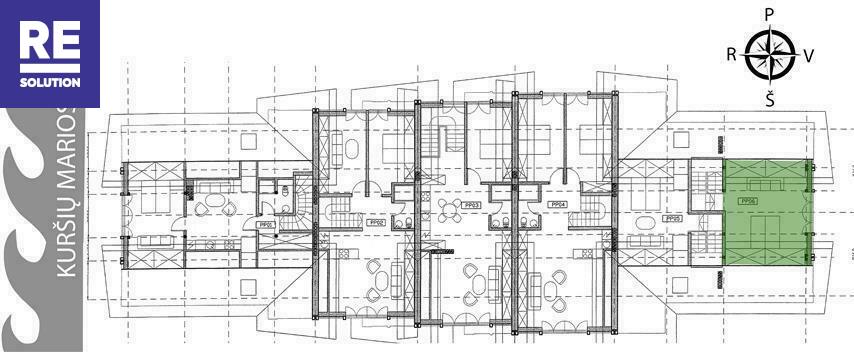 Parduodamas butas Preilos g., Neringos m., Neringos sav., 59.4 m2 ploto, 2 kambariai nuotrauka nr. 6