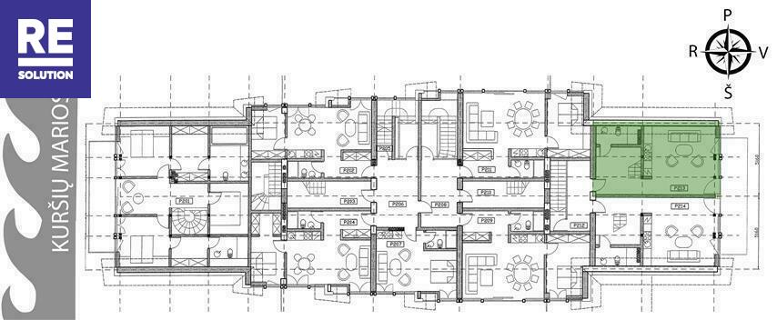 Parduodamas butas Preilos g., Neringos m., Neringos sav., 59.4 m2 ploto, 2 kambariai nuotrauka nr. 7