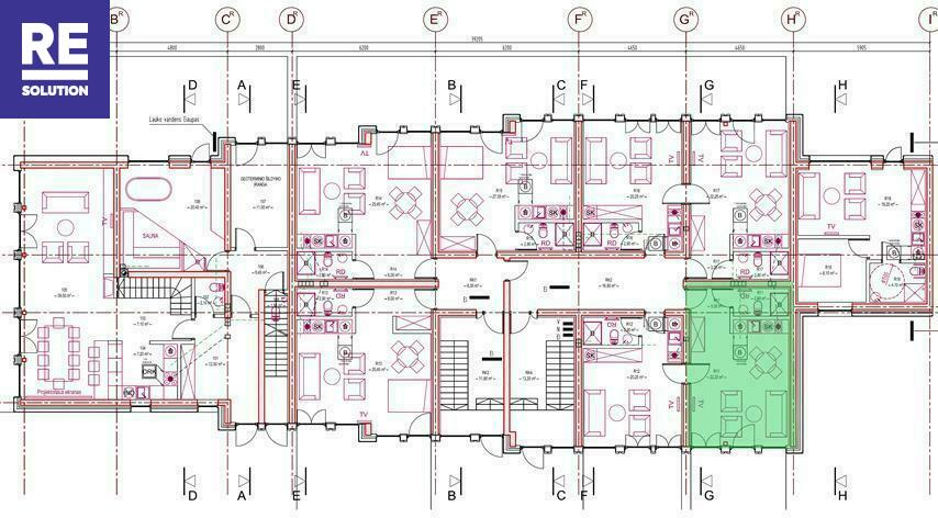 Parduodamas butas Preilos g., Neringos m., Neringos sav., 51.07 m2 ploto, 1 kambariai nuotrauka nr. 5