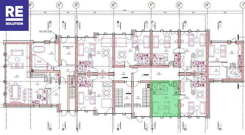 Parduodamas butas Preilos g., Neringos m., Neringos sav., 51.07 m2 ploto, 1 kambariai nuotrauka nr. 6