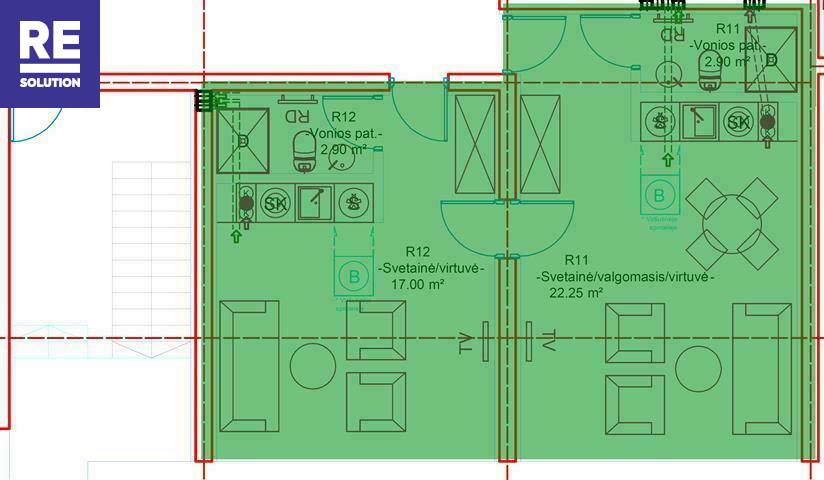 Parduodamas butas Preilos g., Neringos m., Neringos sav., 51.07 m2 ploto, 1 kambariai nuotrauka nr. 7