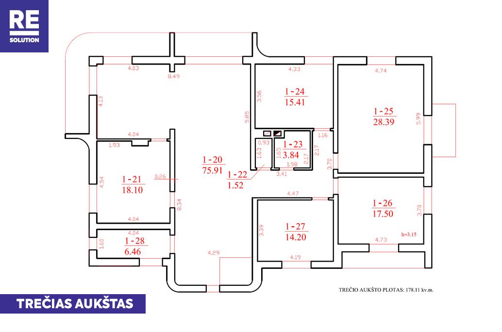 Parduodamas namas Garsioji g., Pavilnys, Vilniaus m., Vilniaus m. sav., 687.21 m2 ploto nuotrauka nr. 7
