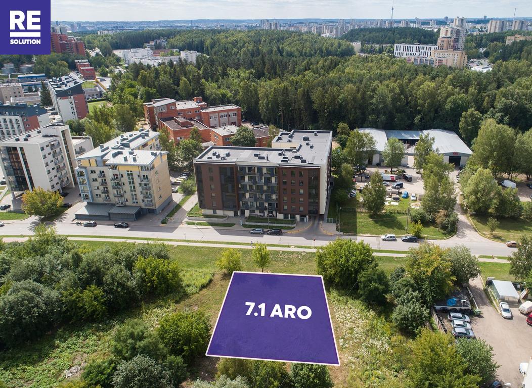 Vilniuje, Visoriuose, parduodamas 7.1 a ploto namų valdos sklypas, Prano Ancevičiaus g. 14 nuotrauka nr. 1