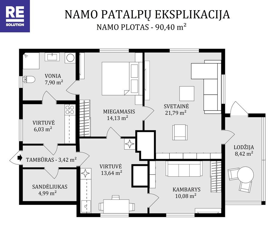 Parduodamas tvarkingas namas Užupio g., Semeliškėse nuotrauka nr. 22