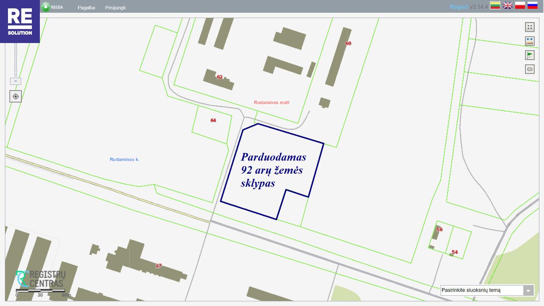 Parduodamas 0,92 ha ploto žemės sklypas Rudaminos k., Vilniaus r. nuotrauka nr. 2