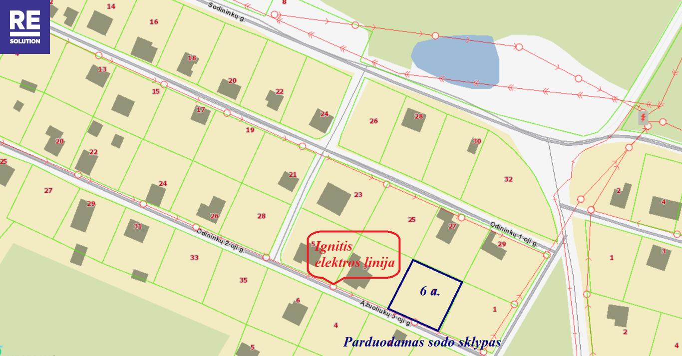 Parduodamas 6 arų sodo sklypas Daubėnų k., Rudaminos sen. nuotrauka nr. 12