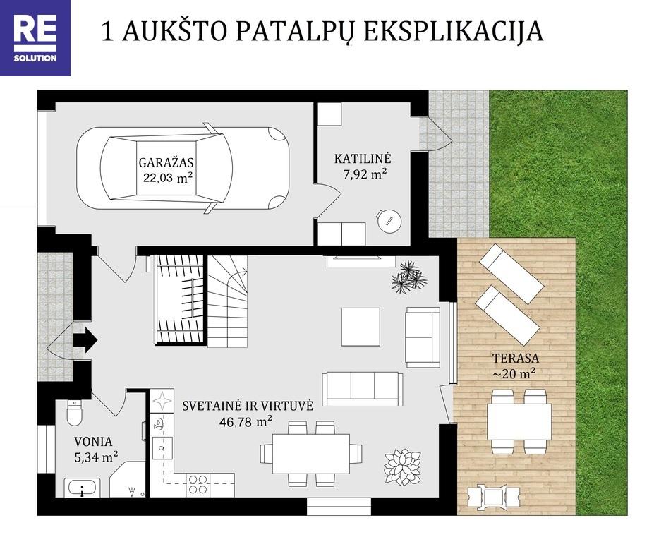Parduodamas namas Bulgarų g., Kalnėnuose, Vilniuje, 135 kv.m ploto nuotrauka nr. 11