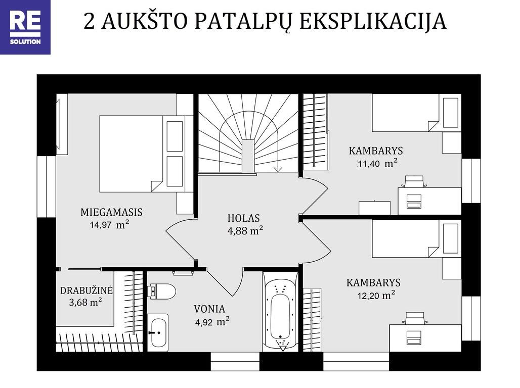 Parduodamas namas Bulgarų g., Kalnėnuose, Vilniuje, 135 kv.m ploto nuotrauka nr. 12