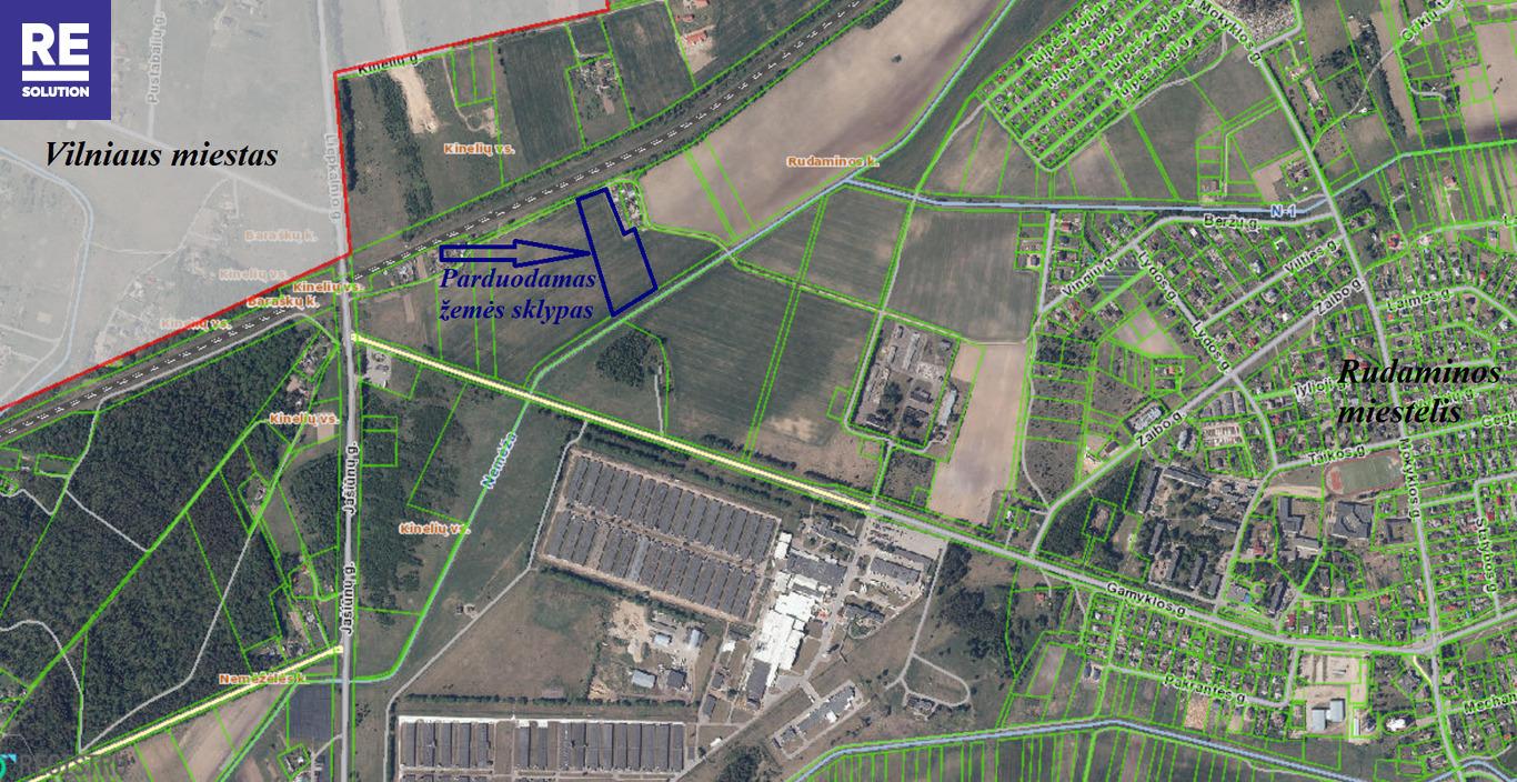 Parduodamas 1,95 ha ploto žemės sklypas Rudaminos k., Vilniaus r.