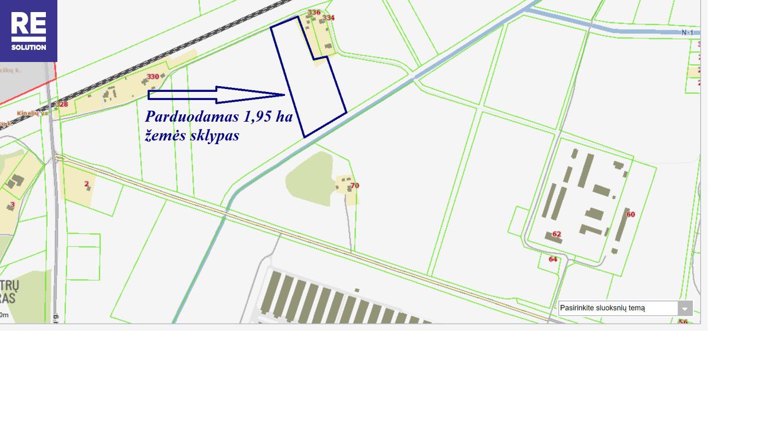 Parduodamas 1,95 ha ploto žemės sklypas Rudaminos k., Vilniaus r. nuotrauka nr. 2