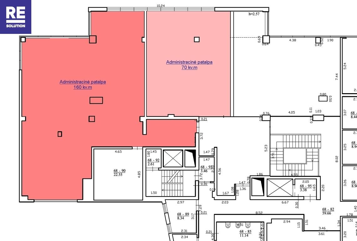 Naujame verslo centre išnuomojamos modernios 70 kv.m biuro patalpos nuotrauka nr. 4