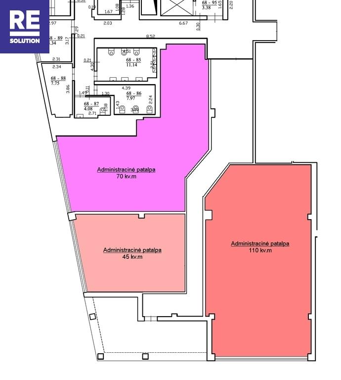 Naujame verslo centre išnuomojamos modernios 70 kv.m biuro patalpos nuotrauka nr. 5