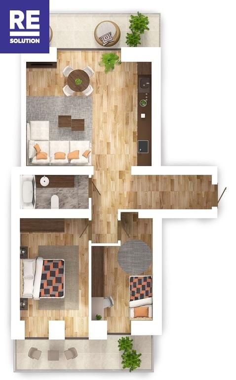 Parduodamas 3-jų kambarių butas Antakalnyje, 67 kv.m ploto nuotrauka nr. 16
