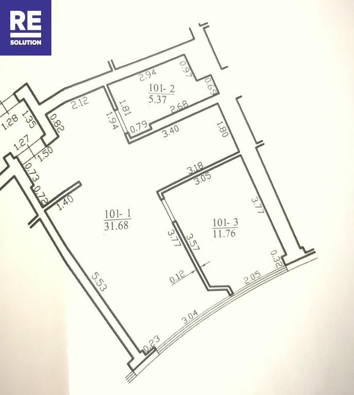 Parduodamas butas Konstitucijos pr., Šnipiškėse, Vilniuje, 48.81 kv.m ploto, 2 kambariai nuotrauka nr. 12