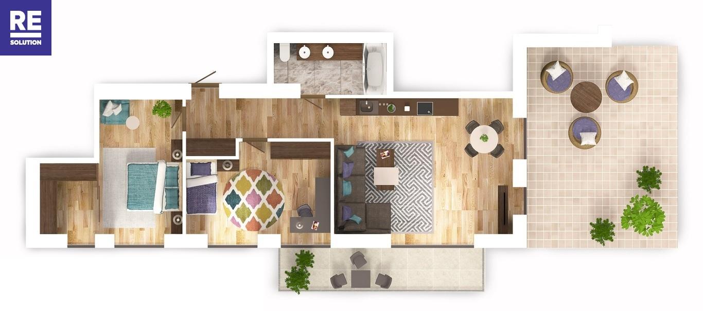 Parduodamas 3-jų kambarių butas Antakalnyje, 67 kv.m ploto nuotrauka nr. 20