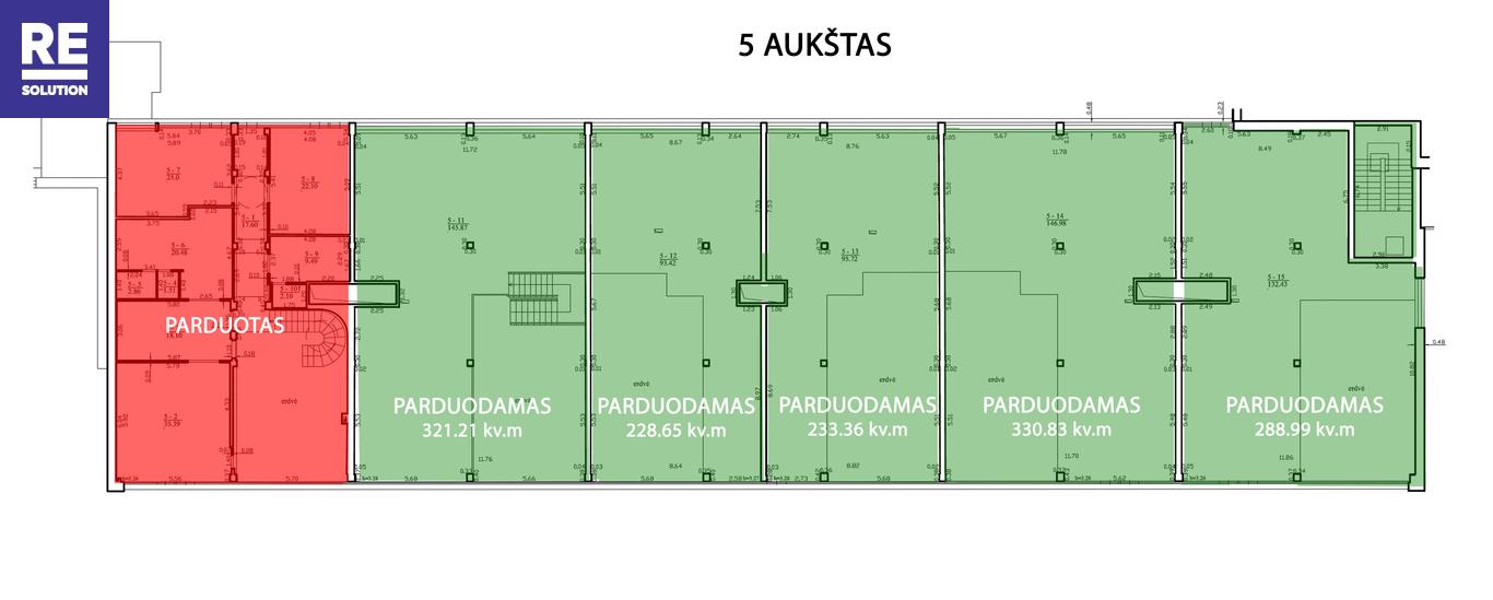 Parduodamas butas Saltoniškių g., Žvėryne, Vilniuje, 321.21 kv.m ploto, 5 kambariai nuotrauka nr. 10
