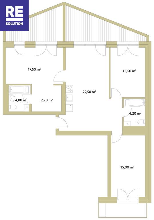 Parduodamas butas Polocko g., Užupyje, Vilniuje, 85.03 kv.m ploto nuotrauka nr. 16