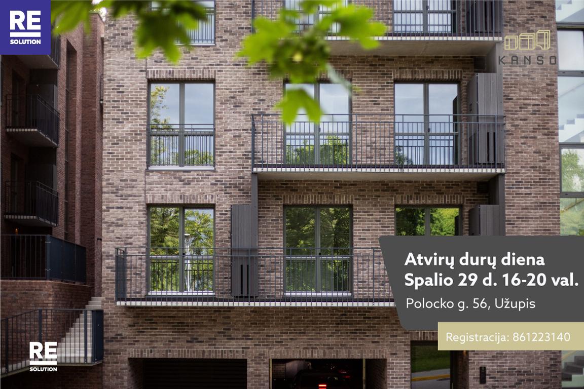 Parduodamas butas Polocko g., Užupyje, Vilniuje, 52.23 kv.m ploto