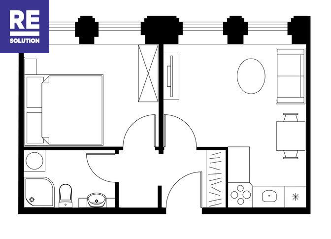 Parduodamas butas Bazilijonų g., Senamiestyje, Vilniuje, 33.41 kv.m ploto nuotrauka nr. 7