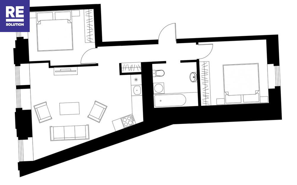 Parduodamas butas Bazilijonų g., Senamiestyje, Vilniuje, 104.51 kv.m ploto nuotrauka nr. 15